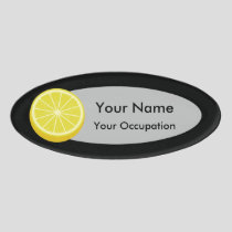 Halve Lemon Name Tag