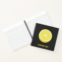 Halve Lemon Notebook