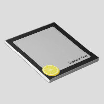 Halve Lemon Notepad