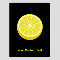 Halve Lemon Postcard