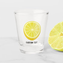 Halve Lemon Shot Glass