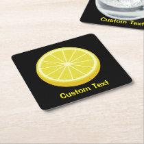 Halve Lemon Square Paper Coaster
