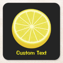 Halve Lemon Square Paper Coaster