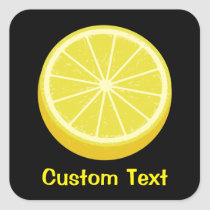 Halve Lemon Square Sticker