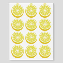 Halve Lemon Temporary Tattoos