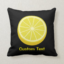 Halve Lemon Throw Pillow