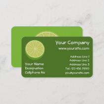 Halve Lime Business Card