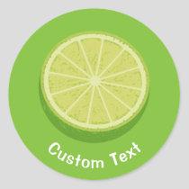 Halve Lime Classic Round Sticker