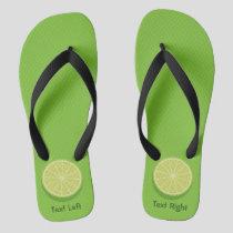 Halve Lime Flip Flops