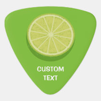 Halve Lime Guitar Pick