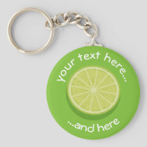 Halve Lime Keychain
