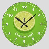 Halve Lime Large Clock