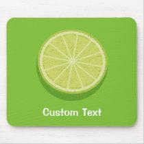 Halve Lime Mouse Pad