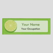Halve Lime Name Tag