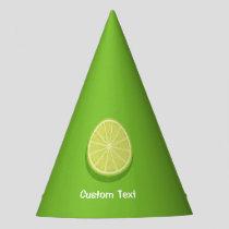 Halve Lime Party Hat