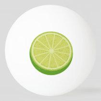 Halve Lime Ping Pong Ball