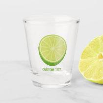 Halve Lime Shot Glass