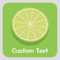 Halve Lime Square Sticker