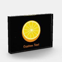 Halve Orange Acrylic Award