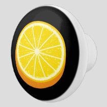 Halve Orange Ceramic Knob