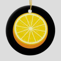 Halve Orange Ceramic Ornament