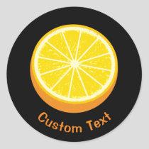 Halve Orange Classic Round Sticker