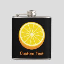 Halve Orange Flask