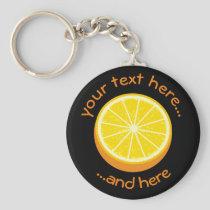 Halve Orange Keychain