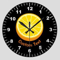 Halve Orange Large Clock