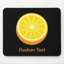 Halve Orange Mouse Pad