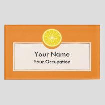 Halve Orange Name Tag