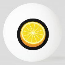 Halve Orange Ping Pong Ball
