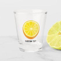 Halve Orange Shot Glass