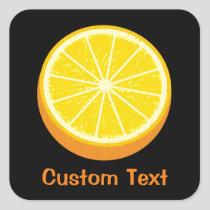 Halve Orange Square Sticker