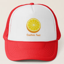 Halve Orange Trucker Hat