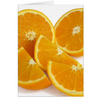 Halves and quarters of ripe, juicy, sweet card