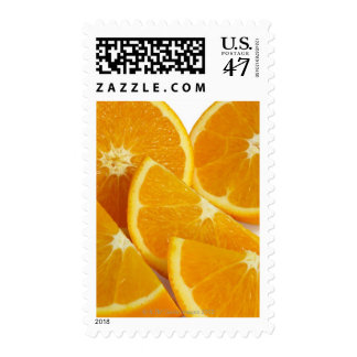Halves and quarters of ripe, juicy, sweet stamp