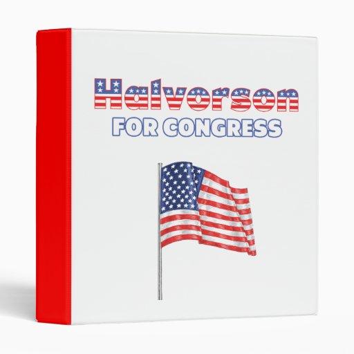 Halvorson for Congress Patriotic American Flag Binder