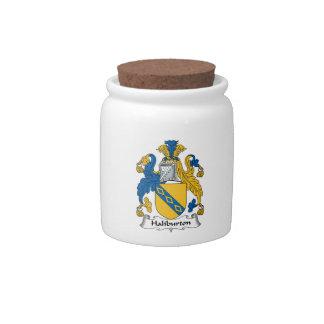 Halyburton Family Crest Candy Jars