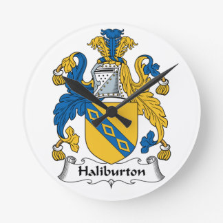Halyburton Family Crest Wallclock