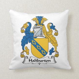 Halyburton Family Crest Throw Pillow