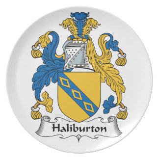 Halyburton Family Crest Plates
