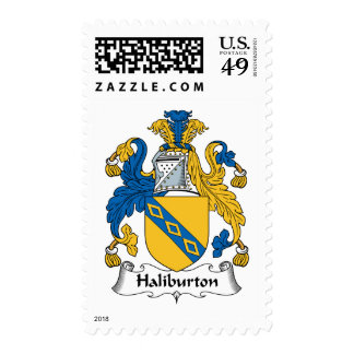 Halyburton Family Crest Postage