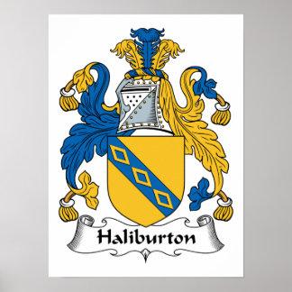 Halyburton Family Crest Poster