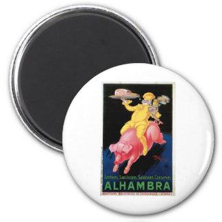 Ham Alhambra Vintage Food Ad Art 2 Inch Round Magnet