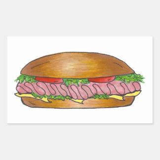 Ham and Cheese Hoagie Stickers