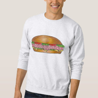 Ham and Cheese Hoagie Sub Sandwich Sweatshirt