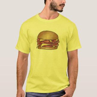 Ham and Cheese on Bun Lunch Sandwich Tee Shirt