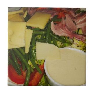 Ham and Cheese Salad Ceramic Tile