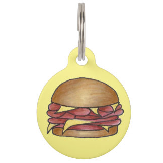 Ham and Cheese Sandwich Foodie Pet Dog Food Tag